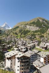 Zermatt, Bauboom, Walliser Alpen, Matterhorn, Schweiz