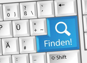 Finden - Suchen - Tastatur deutsch