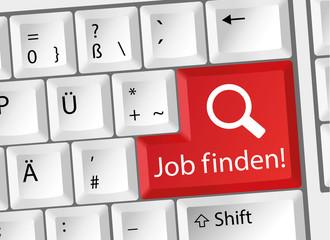 Job finden - Arbeit - Karriere - Tastatur deutsch