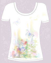 t-shirt with  natural design