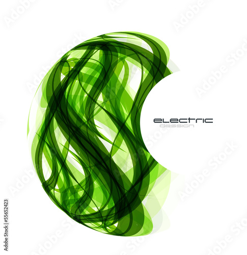 Vector green lines sphere design