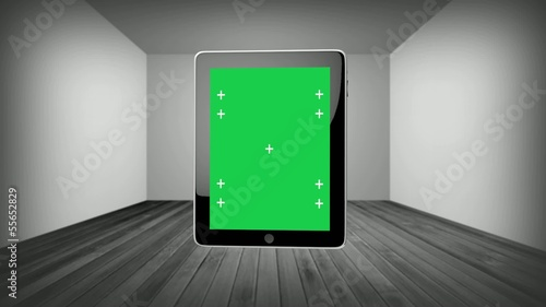 Loop Rotate Tablet With Green Screen