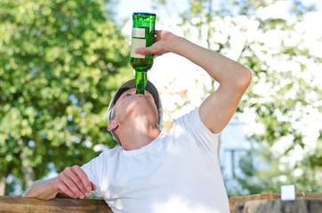 Man with a severe drinking problem