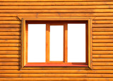 Wooden window close-up.