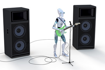 Robot Playing Guitar