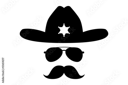 sheriff with bushy mustache
