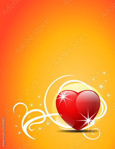 Valentine's Day vector background.