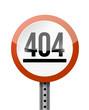 404 error road sign illustration design