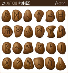 24 Antique Runes