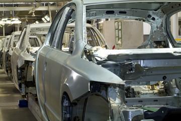 Auto Produktion Herstellung Fliessband Karosserie