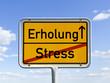 Übergang von Stress zu Erholung