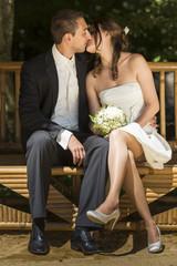 Kuss-Hochzeit