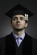 College graduate with tuition debt, vertical