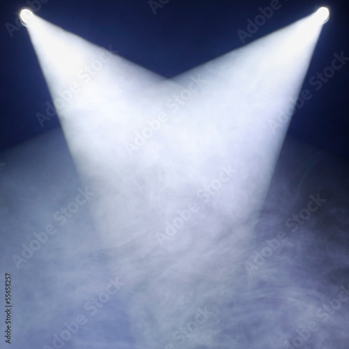gray smoke and white disco dance theater light background