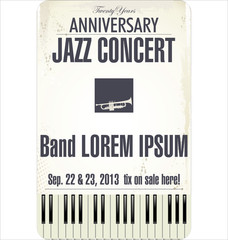 Anniversary Jazz concert poster