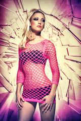 Blond Woman Fashion Portrait