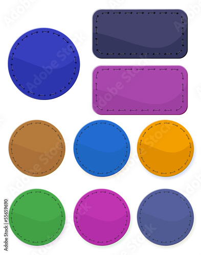 Textile labels. Vector.