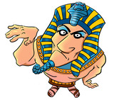 Funny cartoon egyptian pharaoh