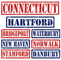 Connecticut Cities stamps