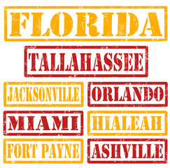 Florida Cities stamps