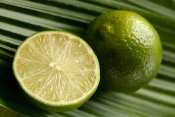Lime on a palm leaf