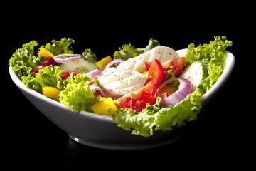 Luxurious vegetable salad.