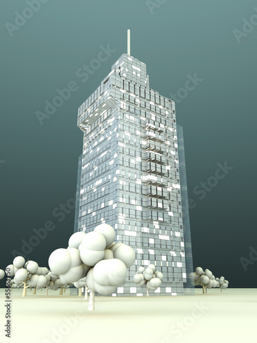 canvas print picture Modern Architecture..