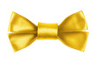 yellow festive bow made from ribbon