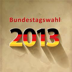 Bundestagswahl 2013 Vektor Vintage