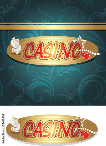 Casino icon and background for design