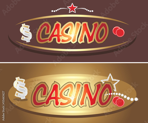 Casino icons for design