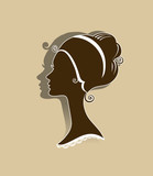 Female silhouette portrait in the Empire style.