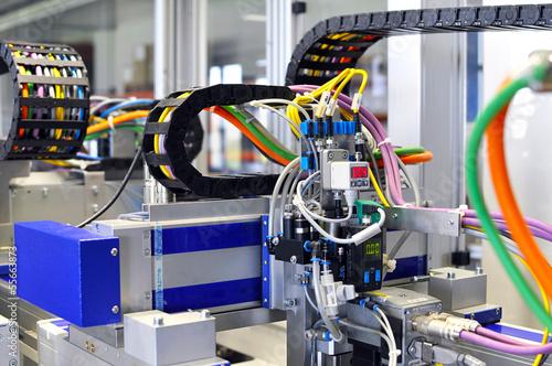Leinwanddruck Bild High Tech Industrieanlage