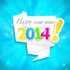 origami speech bubble : happy new year v2