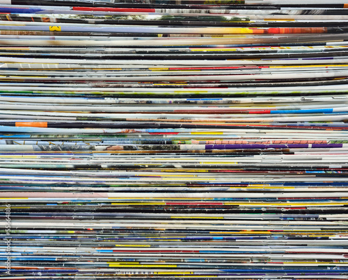 Background made of magazines