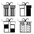 Gift Box Collection. Black and white set