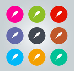 Quill pen - Metro clear circular Icons