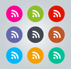 RSS - Metro clear circular Icons