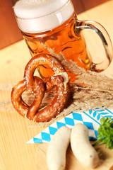 oktoberfest bier breze und weisswuste