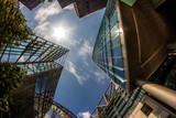 Fototapety Detail of Modern Buildings In Berlin, Germany