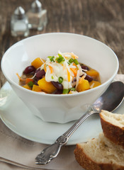 Black Bean Chili with Fall Vegetables