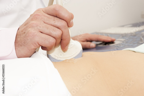 Scanning of a stomach
