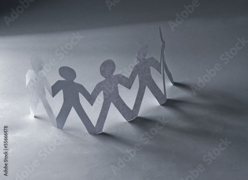 Circle of people with clipping path