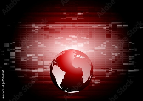Abstract technology world globe backdrop
