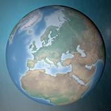 Mondo terra globo Europa Africa Medio Oriente