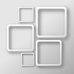 Weiße rechteckige Rahmen