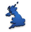 Map Of United Kingdom 3d Shape - 55667490