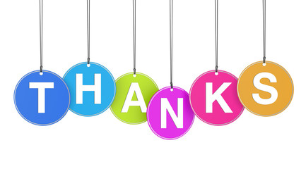 Thanks Concept On Tags