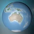 Mondo terra globo Oceania Australia