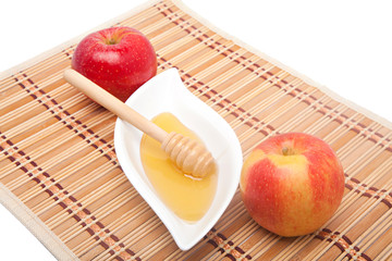 Two apples and honey